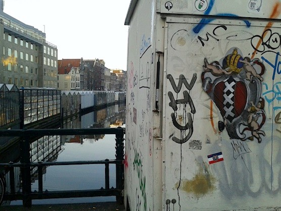 Street Art in Amsterdam. Flower Market