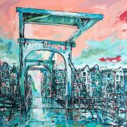 Amsterdam-Souvenir-Art-Painting-Canals-Postcards-Skinny-Bridge-small