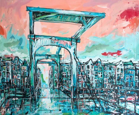 Amsterdam Postcard: Great souvenir of the Skinny Bridge in Holland's capital.