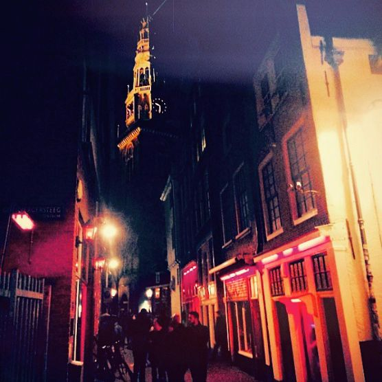 Old Church Red Light District Amsterdam