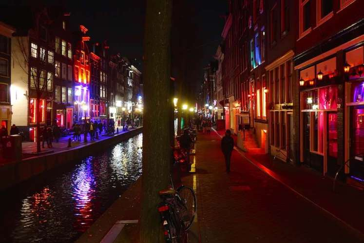 Dutch prostitute Amsterdam Red Light District canals