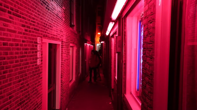 Dutch prostitute Amsterdam Red Light District narrow alleys
