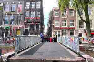 Location 3D Printed Bridge Amsterdam's Red Light District