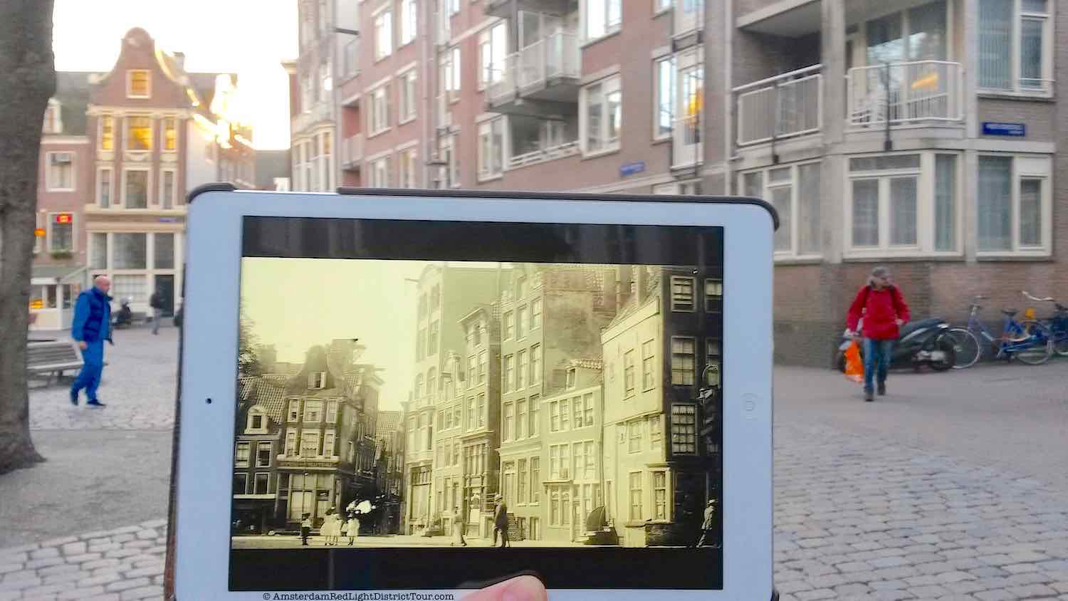 Amsterdam Red Light District Now and Then: The Old Church Square