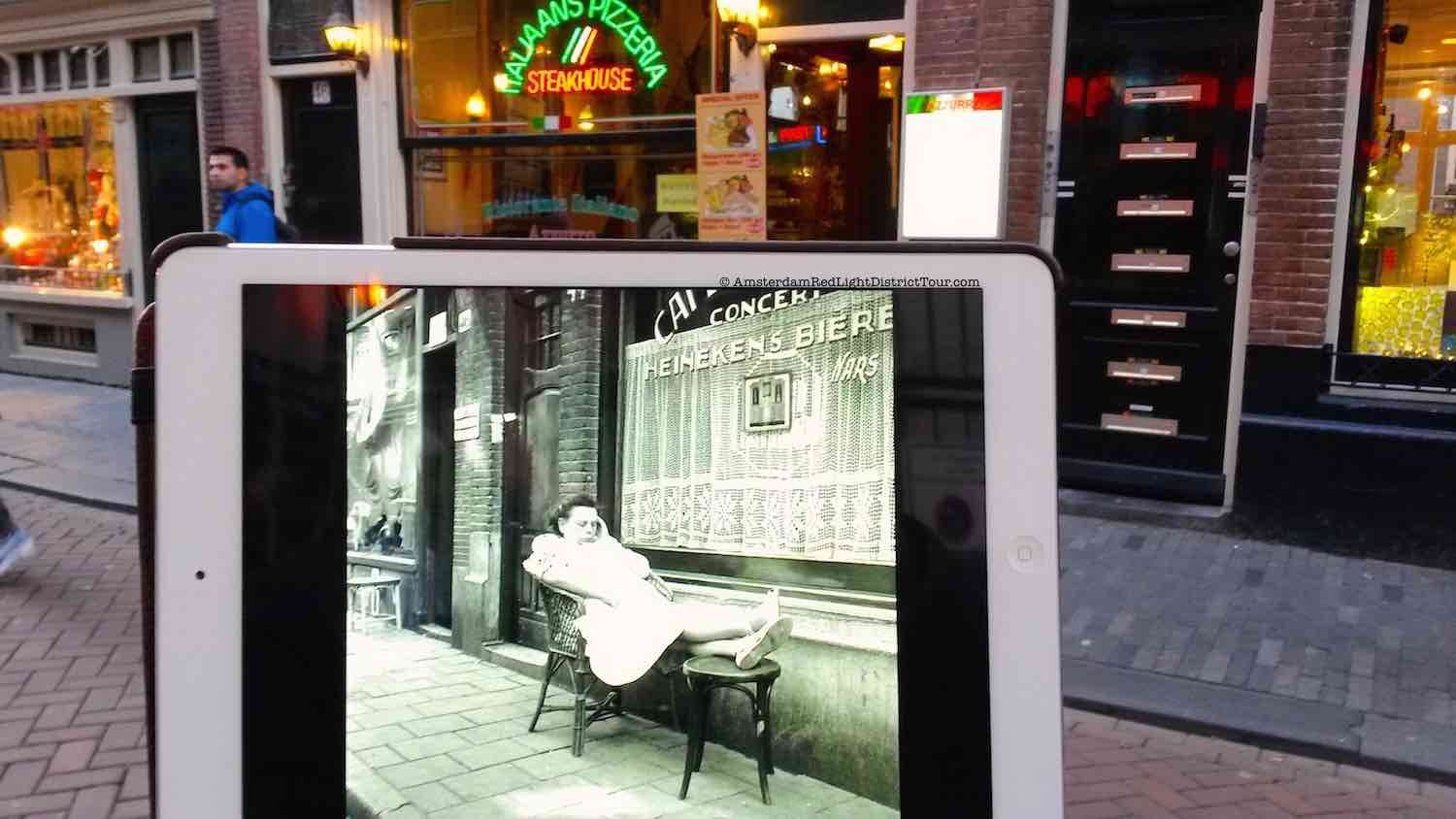 Amsterdam Red Light District Now and Then: Zeedijk 46 - Mary go Wild