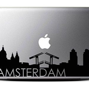 Amsterdam Skyline Decal Macbook 15 Inch