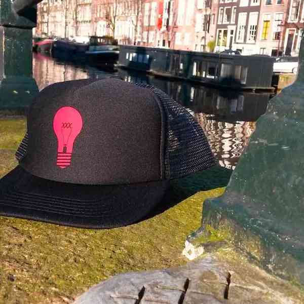 Amsterdam Red Light District Trucker Hats Caps