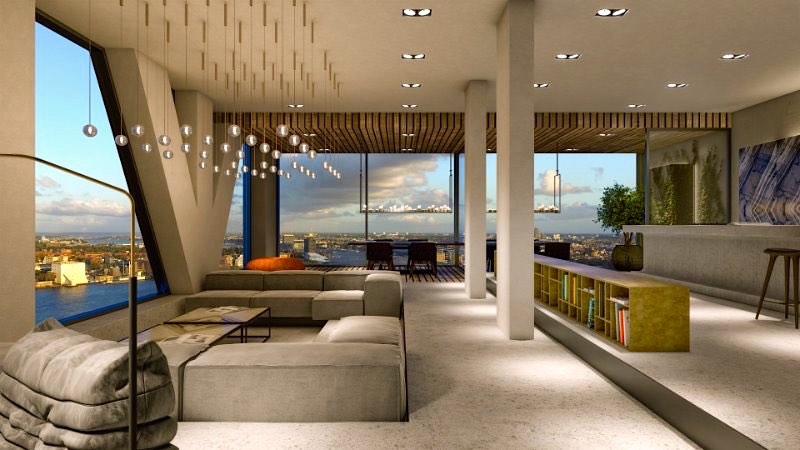 Biggest Penthouse In Amsterdam Interior