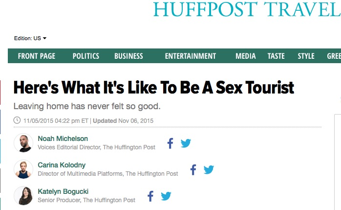 The Huffington Post: Here's what it's like to be a sex tourist