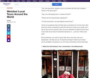 10 Weirdest Local Tours Around the World by Yahoo