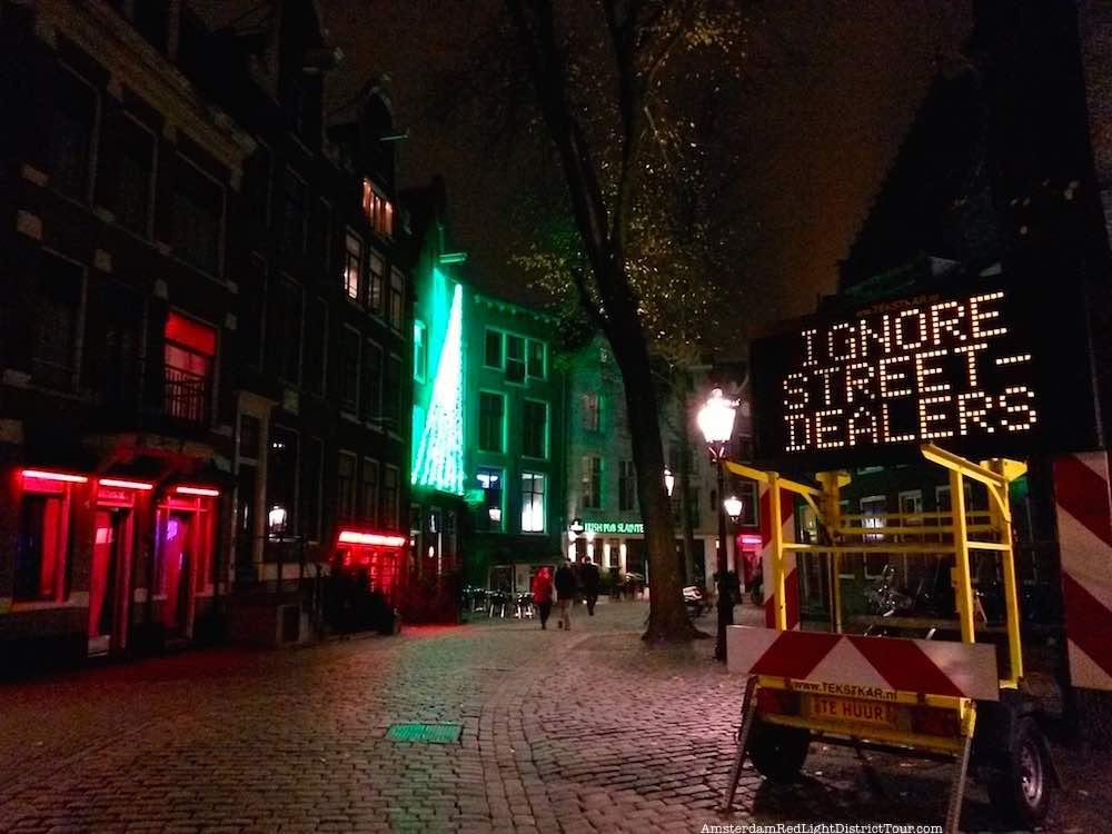 Aggressive fake drug dealers in Amsterdam