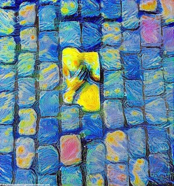 Red Light District Street Art Van Gogh