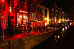 Window Brothel Restaurant In Amsterdam Red Light District