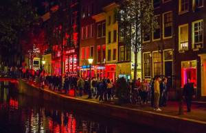 Amsterdam Red Light District Window Prostitute Brothels