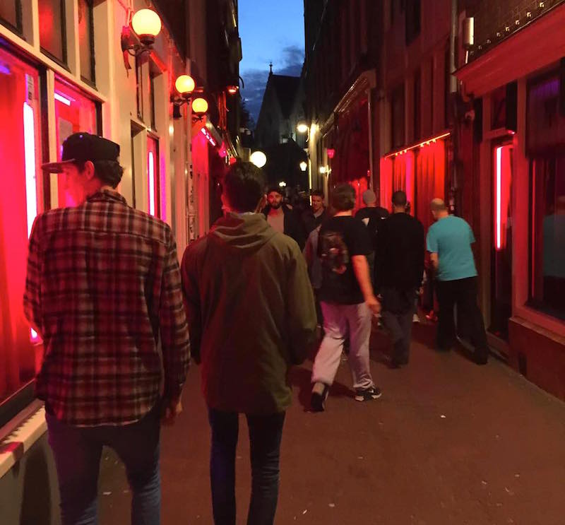 Visitors of Amsterdam Red Light District