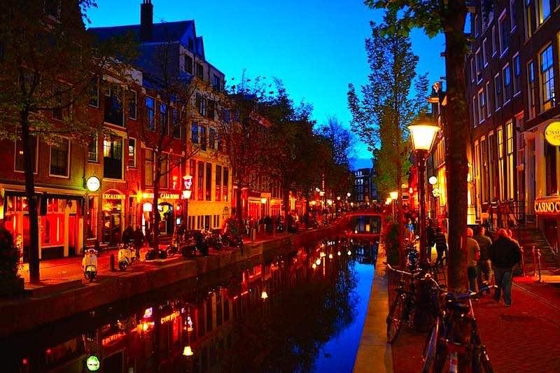 Amsterdam Red Light District Neighbourhood