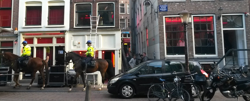 Amsterdam Red Light District Laws Mounted Police