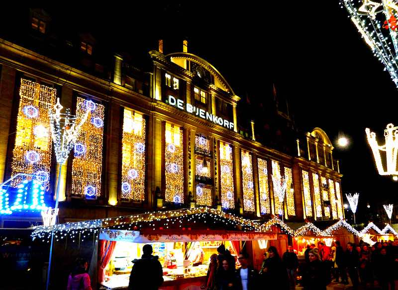 Amsterdam Christmas market Bijenkorf