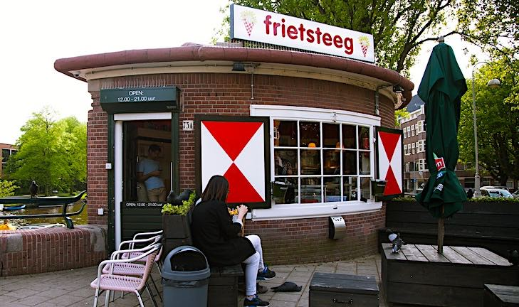 Best fries in Amsterdam at Frietsteeg