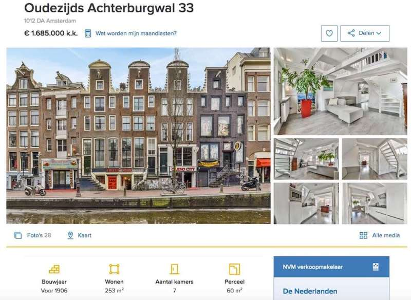 amsterdam red light district houses for sale