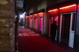 Amsterdam prostitution menu window brothel