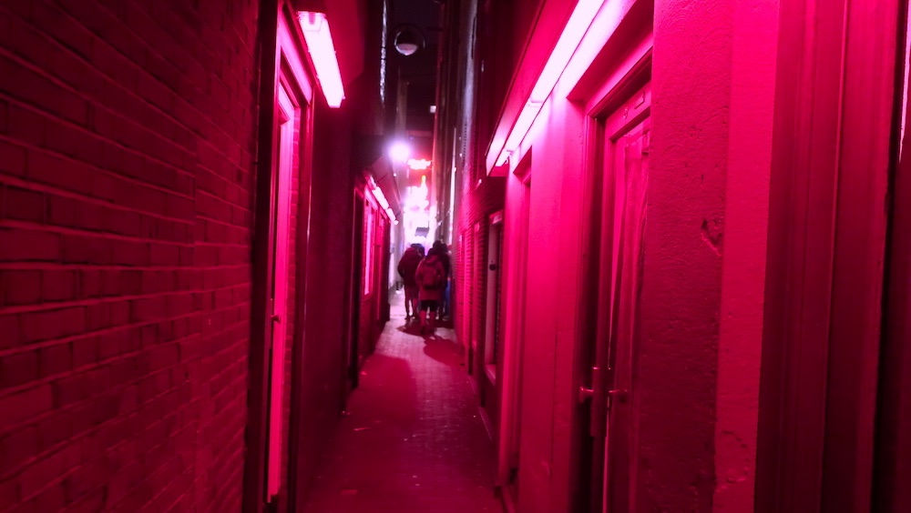 Amsterdam Red Light District alleys