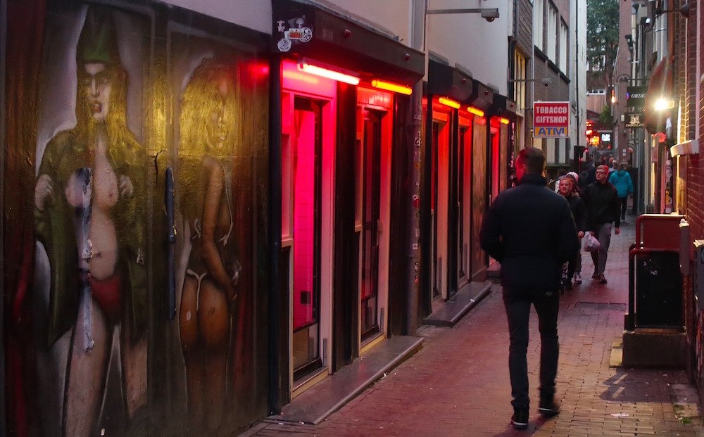 red light district map amsterdam