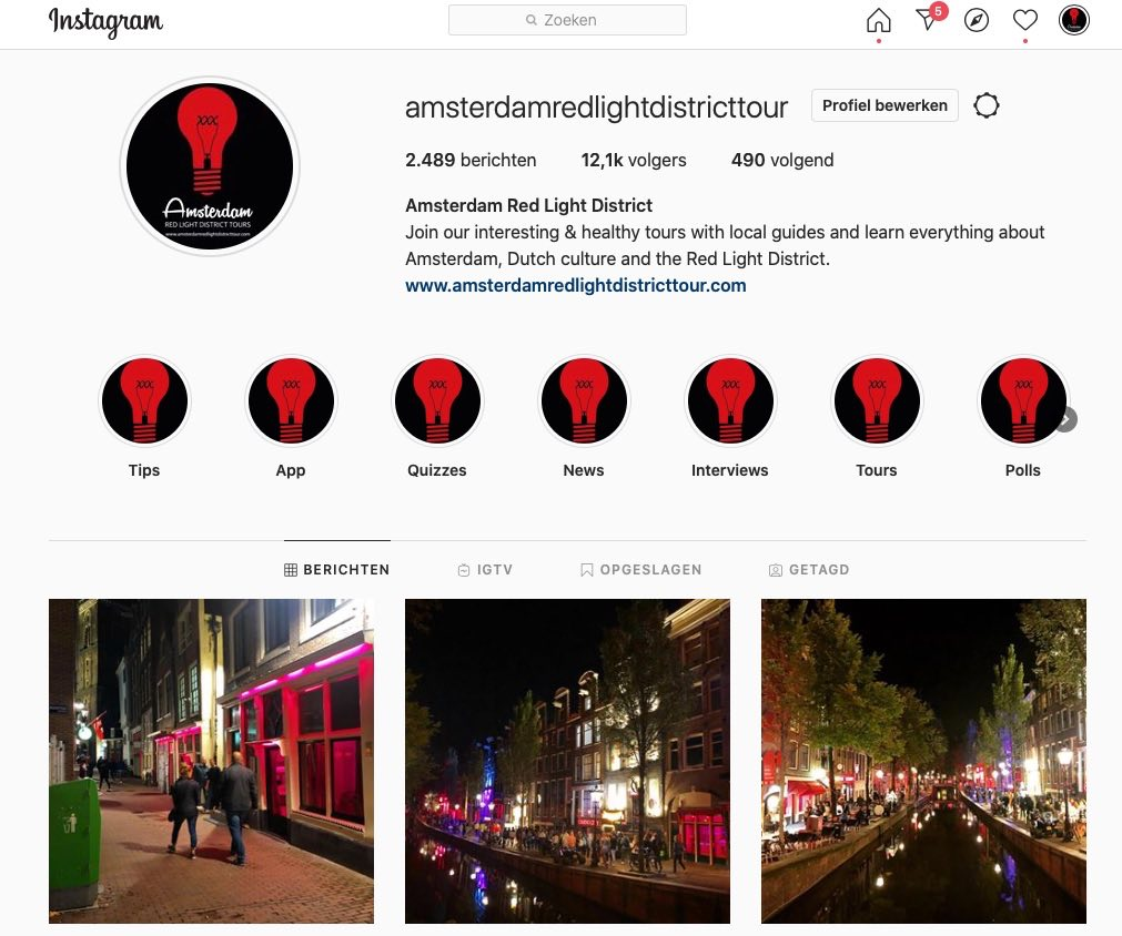 amsterdam red light district tour instagram