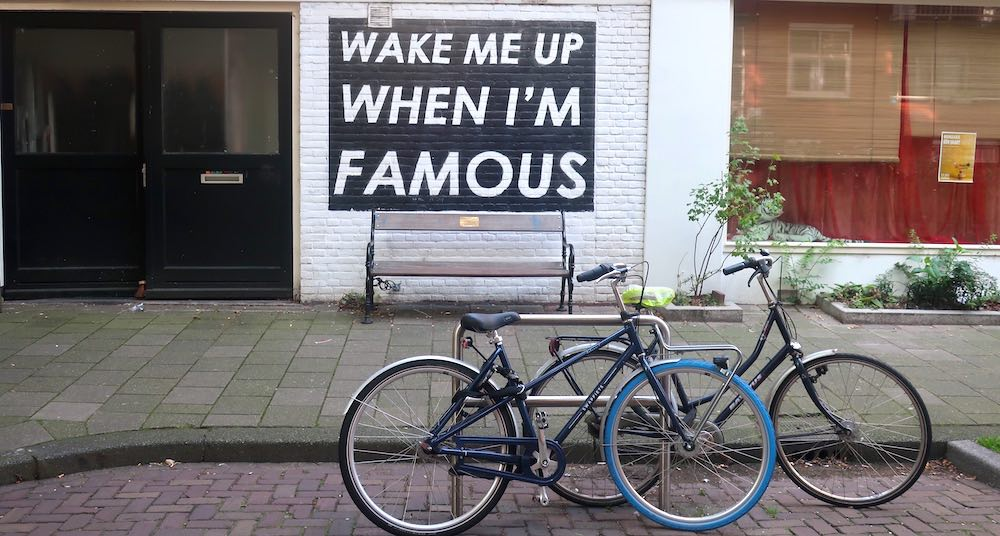 wake me up when im famous bench