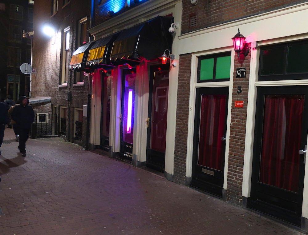 Amsterdam blue light district