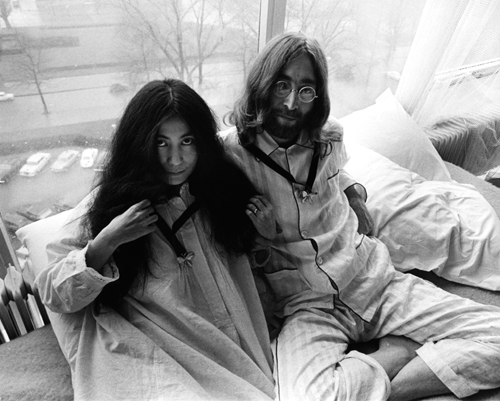 Beatle John Lennon and his wife Yoko Ono stayed in the Hilton Amsterdam hotel during their honeymoon in 1969