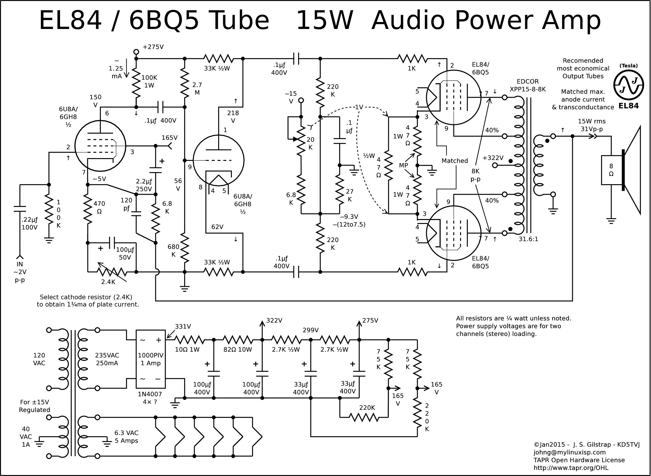 El84 12ax7 Amp Schematic
