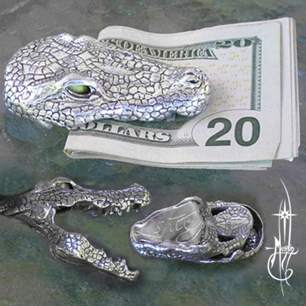 Custom Crocodile Money Clip