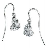 Heart Drop Earrings | Diamond Heart | Amulet Fine Jewellery