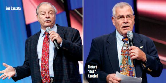 Bob Cassata (left) and Dick Knoebel  – Courtesy of IAAPA