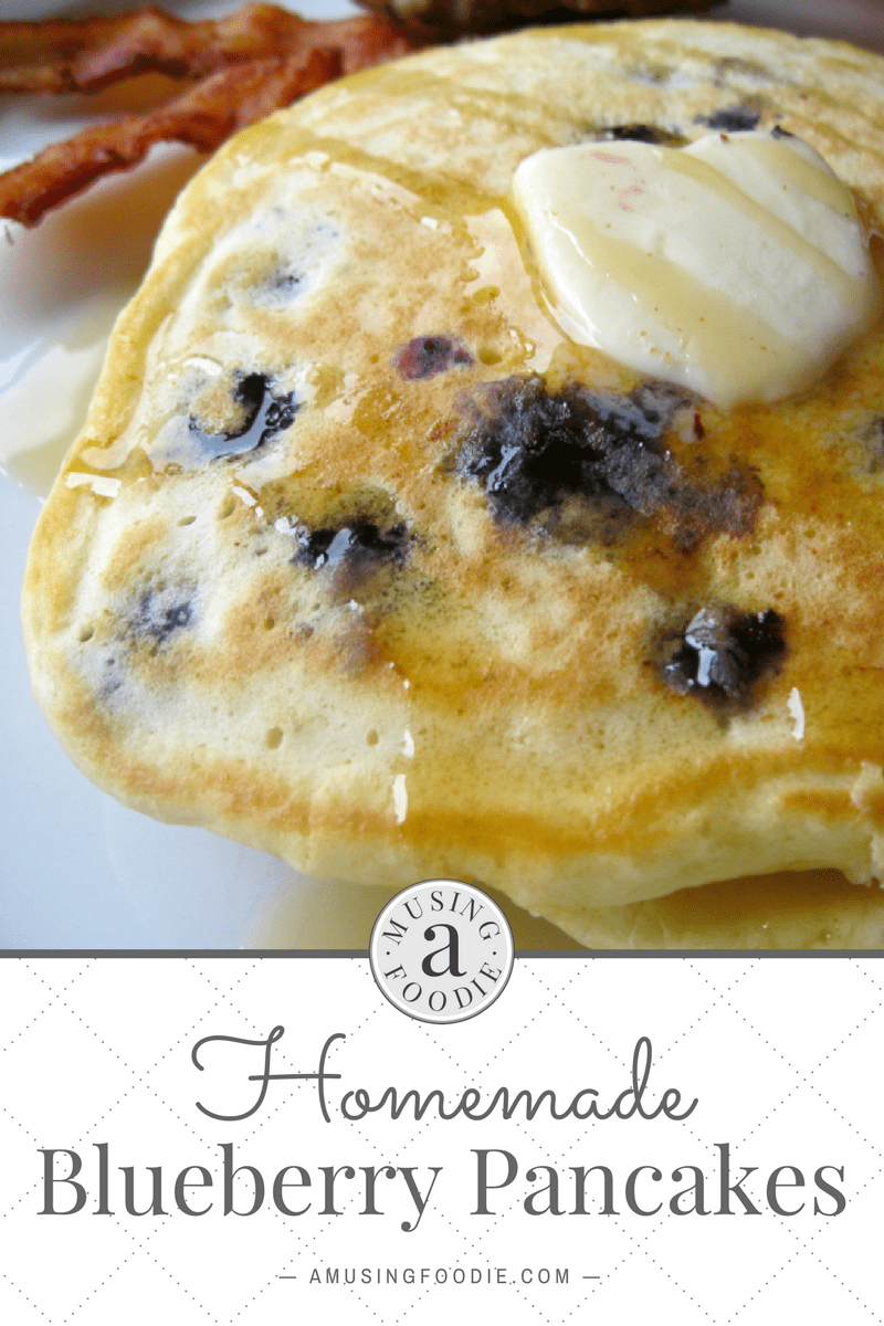 Homemade blueberry pancakes are super easy to make on weekends and perfect to reheat during the week for easy breakfasts!