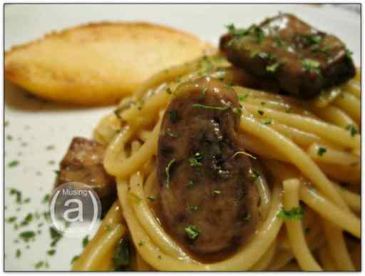 beef and mushroom spaghetti