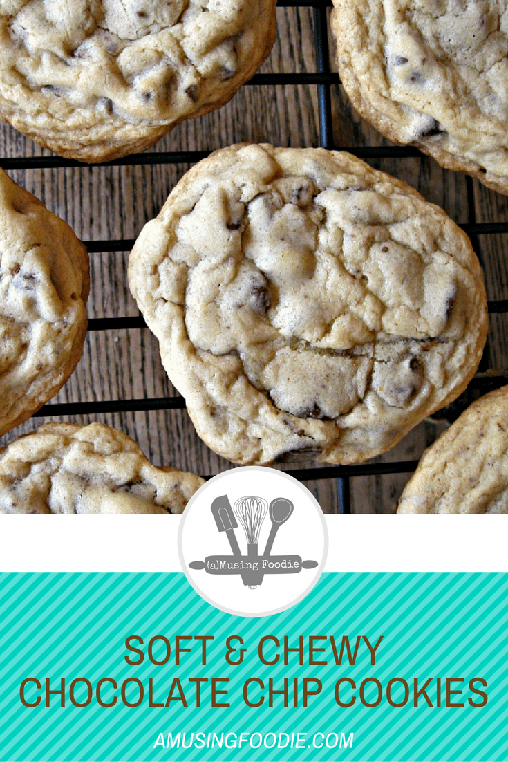These soft and chewy chocolate chip cookies are a classic and so easy to make!