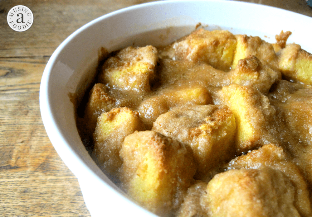 Think of this hazelnut pound cake pudding as traditional bread pudding with a modern sweet and velvety twist!