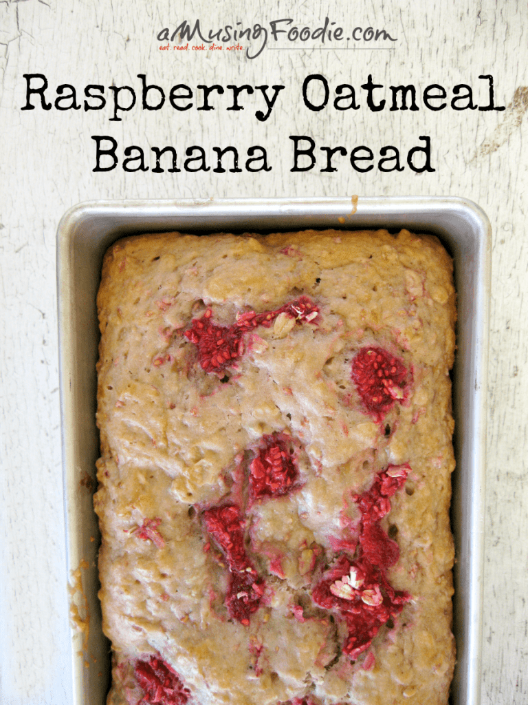 Raspberry Oatmeal Banana Bread