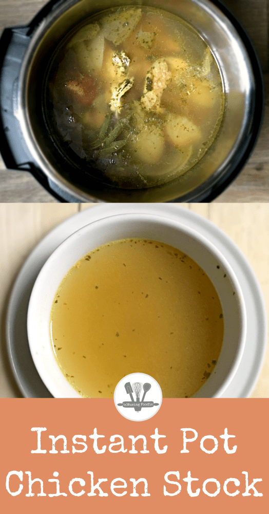 Instant Pot chicken stock is ready in an hour and tastes just like a slow cooked stock that's been simmering away for hours and hours.