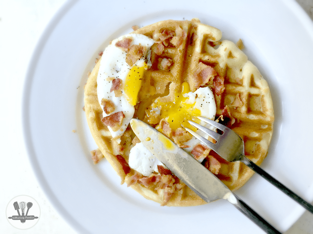 Eggs, bacon and waffles. I'm not sure there's a better breakfast (or breakfast for dinner) option out there.