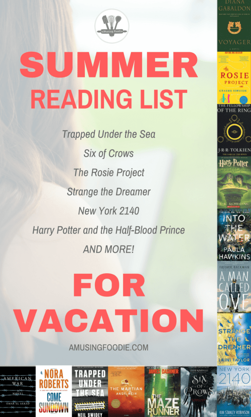 What is it about summer that makes reading seem so much more inviting? I have a long list of books I've been waiting to start, and vacation seems like the best place to dig in!
