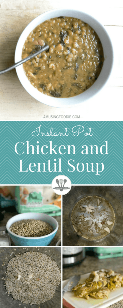 This simple chicken and lentil soup is a hearty meal that'll warm you to the bone!
