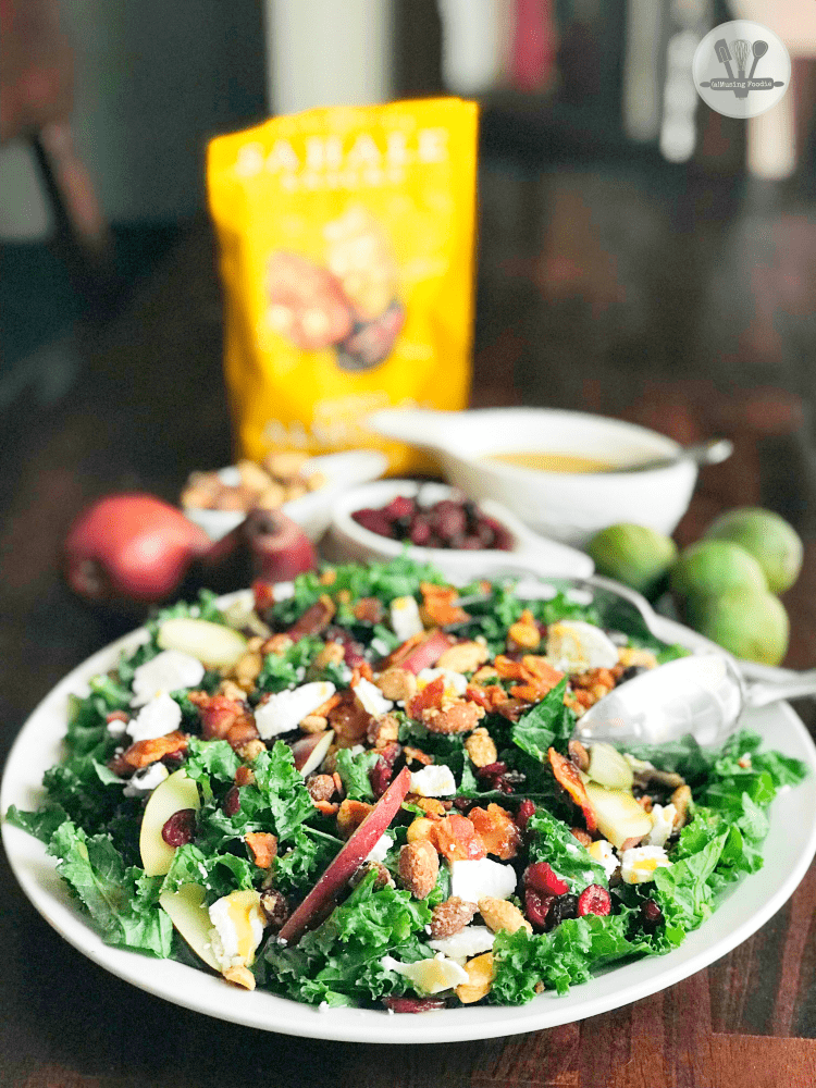 Fall Kale Salad with Honey Mustard Dressing | (a)Musing Foodie
