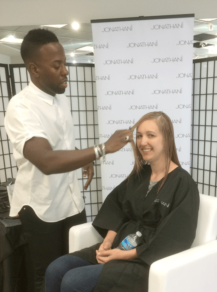 """Getting a hair makeover by celebrity stylist Johnny Wright is one of those """"right place; right time"""" opportunities."""
