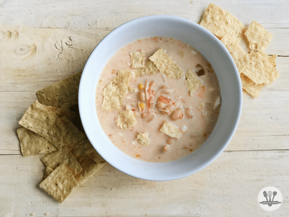This Instant Pot white chicken chili is so simple to make and full of mouth-watering layers of flavor!