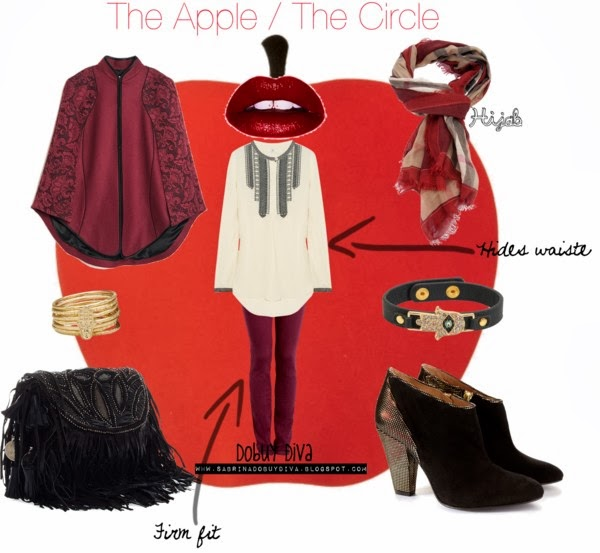 apple  The Art of Wearing Hijab Part 4: Evening Wear. An Apple Shaped Body apple