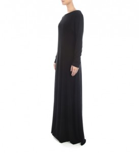 Basic Abaya: Back View  The Art of Wearing Hijab Part 2: Abaya Style back view