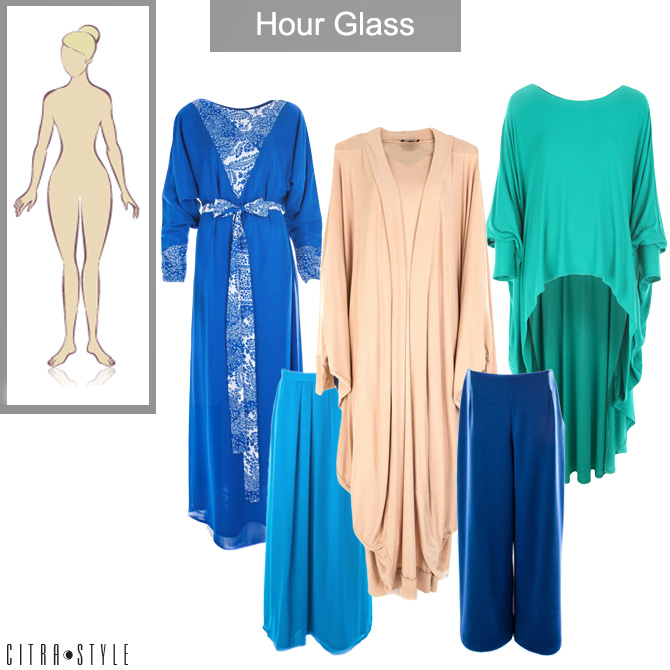 blue  The Art of Wearing Hijab Part 4: Evening Wear. An Hourglass Shaped Body blue